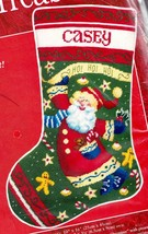 Needle Treasures Ho Ho Ho Santa Cookies Christmas Needlepoint Stocking K... - $162.95