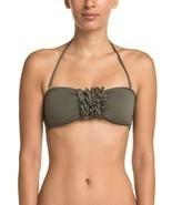 NWT EBERJEY solid M Swimsuit bandeau top olive strapless Dahlia bikini s... - £33.33 GBP