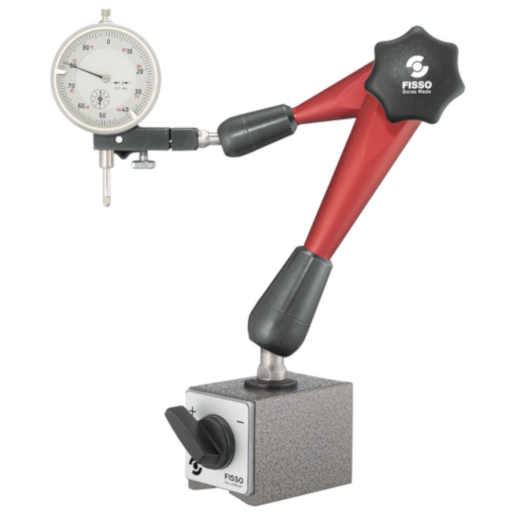 "Primary image for Fisso Strato M-28 F + M 3/4"" Articulated Gage Holder Arm & Switch Magnet"