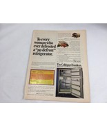 1972 Sears Frostless Refrigerator Ad Print Advertisement 21059 Fridge Co... - $9.81