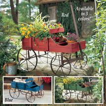 Amish Wagon Decorative Indoor/Outdoor Garden Backyard Planter, Blue  - $34.66