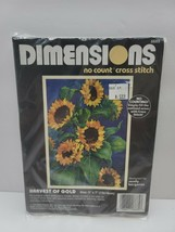 """Vintage Dimensions No Count Cross Stitch Kit 1995 """"Harvest Of Gold"""" - $15.95"""