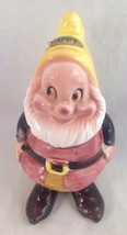 "Enesco Happy Dwarf Ceramic Figurine 5"", Walt Disney Productions, Japan - $16.83"