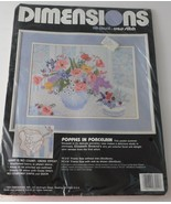 Dimensions No Count Cross Stitch Kit 'Poppies in Porcelian'  #3941 New - $19.30
