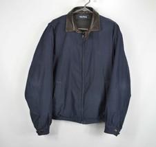 Vintage 90s Nautica Mens Medium Spell Out Reversible Full Zip Bomber Jacket  - $54.40
