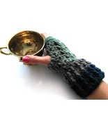 Fingerless Gloves, Mittens, Crochet, Handmade,Lace, Knit, Gift, Wrist Wa... - $20.00