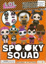 LOL Spooky Squad Halloween Coloring Book with Tattoos Children Girls Kids - $4.74