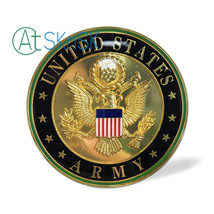 US Army Military Theme Car Emblem Seal of Service Auto Badge Honorable Gift - $10.71