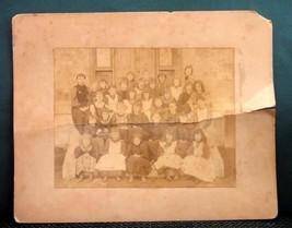 1893 antique SCHOOL CHILDREN PHOTOGRAPH~WILLIAM SHARPLES - $42.50