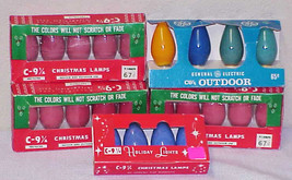 23 Vintage C-9 Ceramic Christmas Replacement Light Bulbs (15 Still Sealed) - $25.00