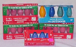 23 Vintage C-9 Ceramic Christmas Replacement Light Bulbs (15 Still Sealed) - $25.00
