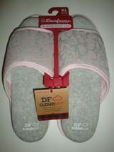 New Dearfoams Women's Memory Foams House Slide Slippers Gray/Pink X-Large 11-12 - $25.73