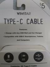 Vivitar Type-C Cable 3 Ft Length SEALED N EW - light green color. image 10
