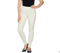 Women with Control Regular Fit Pull-on Knit Leggings Winter White, Small... - $22.49
