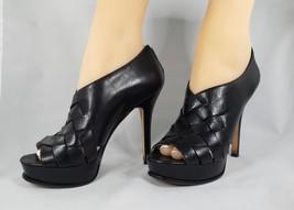 Michael Kors Leather Zipper Peep Toe Heels Size 6.5 - $50.00