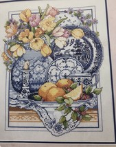 Blue Willow Cross Stitch Kit Willowware Classic Bucilla 40630 11 x 14 NOS - $33.65