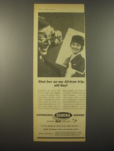 1965 Sabena Airlines Ad - Shot her on my African trip, old boy! - $14.99