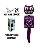 "BOYSENBERRY KIT CAT CLOCK 15.5"" Purple Free Battery MADE IN USA Kit-Cat ... - $69.99"