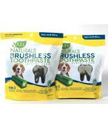 2 Bags Ark Naturals 12 Oz 4In1 Brushless Toothpaste Dental Chew Sm 8 To... - $40.99