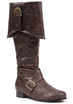 """Ellie Shoes Men's 1"""" Heel Knee High Pirate with Buckle décor Boots Sizes... - €52,72 EUR"""