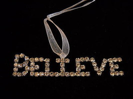 New Believe Rhinestone Christmas Tree Ornament