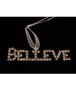 New Believe Rhinestone Christmas Tree Ornament - $39.99