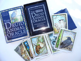 The Druid Animal Oracle Book Set 33 Sacred Animal Cards ancient Celtic t... - $46.99