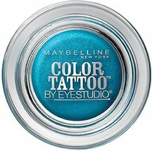 Maybelline EyeStudio Color Tattoo 24Hr Eyeshadow, Tenacious Teal [40] 0.14 oz - $9.79