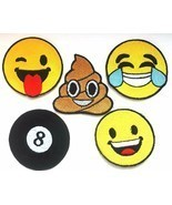 Emoji Smiley Face Embroidered Patches Iron Sew On Jeans Jacket Badge App... - $53,28 MXN+