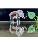 Baccarat Noah's Ark Elephant Artist Signed New Mint French Crystal Paper... - $166.32