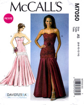 McCall's M7050 Misses Formal Petite Dress Belt Sewing Pattern Sizes 6-8-10-12-14 - $10.45