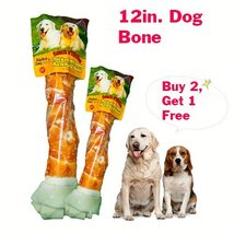 Alpha Dog Series Chicken Rawhide Bones 12 Inch - (Pack of 2) - $19.99