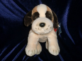 RUSS BERRIE BROWN WHITE ST. BERNARD PUPPY DOG BEANBAG PLUSH ITEM 4392 11... - $16.82