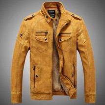 Hot ! High Quality New Winter Fashion Men's Coat Leather Jacket (male co... - $67.32