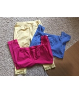 Lot of 3 Chidlren's Place Girl's Leggings Size Large 10-12 Yellow Pink B... - $12.00