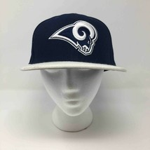 Los Angeles Rams New Era 59Fifty Mens Baseball Cap Blue White Fitted Back 8 63.5 - $24.70