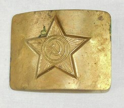 Original Soviet Russian Military Soldier Army Belt Buckle USSR Uniform Surplus - $11.88