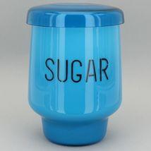 Mid Century Modern Kastrup Holmegaard Denmark Raymor Glass Canister Set in Blue image 6