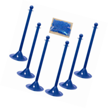 "Mr. Chain 71006-6 Blue Plastic 2"" Stanchion Kit with 50' of 2"" (Pack of 6) - $203.08"