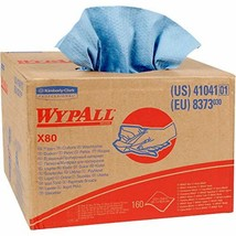 Wypall X80 Reusable Wipes 41041, Extended Use Cloths BRAG Box Format, Blue, 160