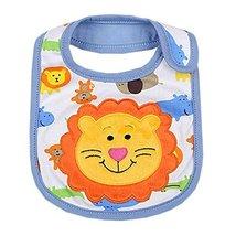 "Lovely Smile Lions Cotton/PVC Adjustable Waterproof Baby Bib Pocket Bib 612"""
