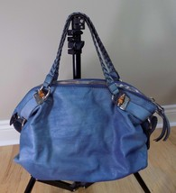 Gucci Handbag Dusty Blue Pebble Leather Large Hobo Tote w/Bamboo FINAL P... - $376.19
