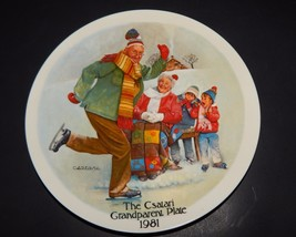 Knowles Bradford Exchange Csatari Grandparent Plate Skating Lesson 1981 USA - $24.74