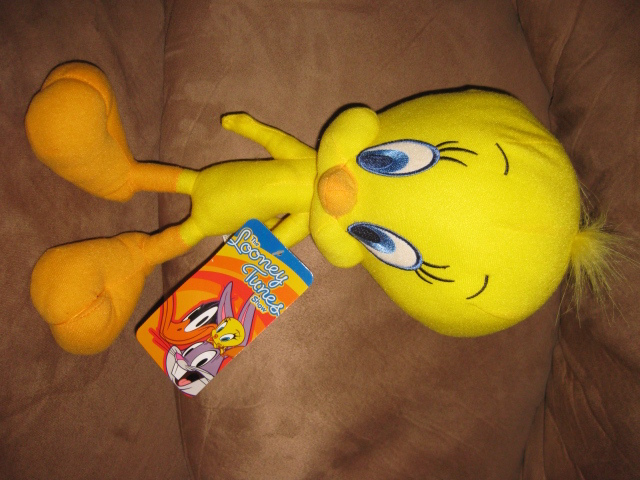 Primary image for LOONEY TUNES SHOW TWEETY BIRD Brand New Licensed Plush NWT With Tags 13""