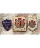 3 MEDIEVAL TIMES DINNER & TOURNAMENT TRAVEL PINS - $19.95