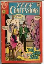 TEEN CONFESSIONS #61 1970-CHARLTON-BIZARRE ARTIST COVER-good minus - $15.13