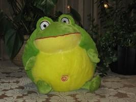 Eddy Toys Dutch Holland 11 Inch Croaking Frog Baby Safe - $67.54