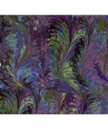 BTY Gorgeous Purple & Blue OIL SLICK 100% Cotton Quilt Crafting Fabric YARD - $10.00