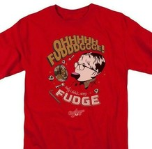 A Christmas Story Ohhh Fudge T-shirt retro 1980s holiday movie film  WBM647 image 1