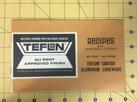 Teflon Du Pont Approved Finish Recipes and Instructions Aluminum Cookware - $19.55